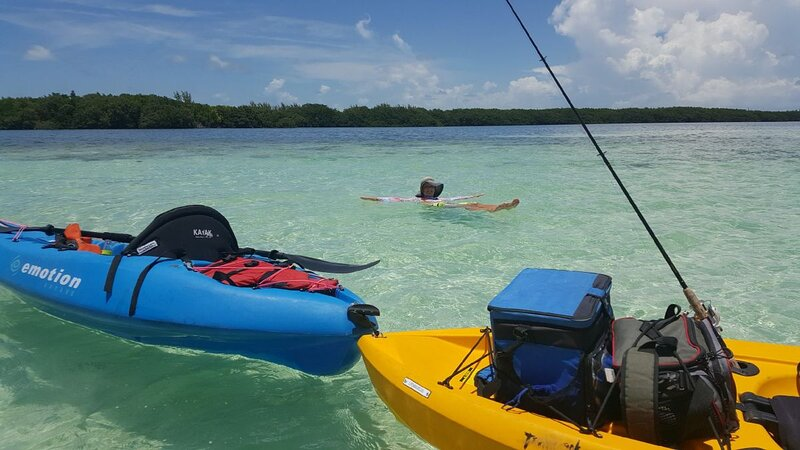 Florida Keys are ideal for water activities of any sort - kayaking, glass bottom boating, fishing, scuba diving, paddleboarding - you name it!