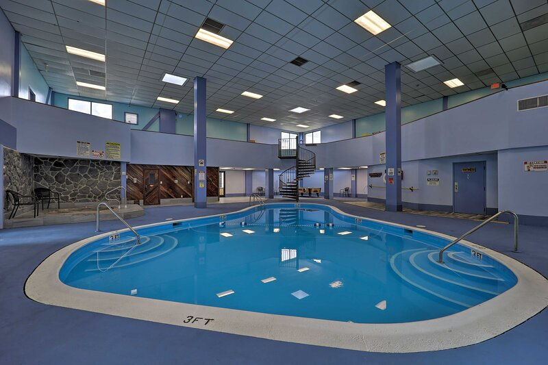 Cool off with a swim in the pool after hiking one of the trails near Elk Valley!