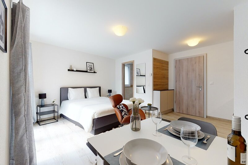 Furnished Studio #101 - Swiss Resort Aigle, aluguéis de temporada em Aigle