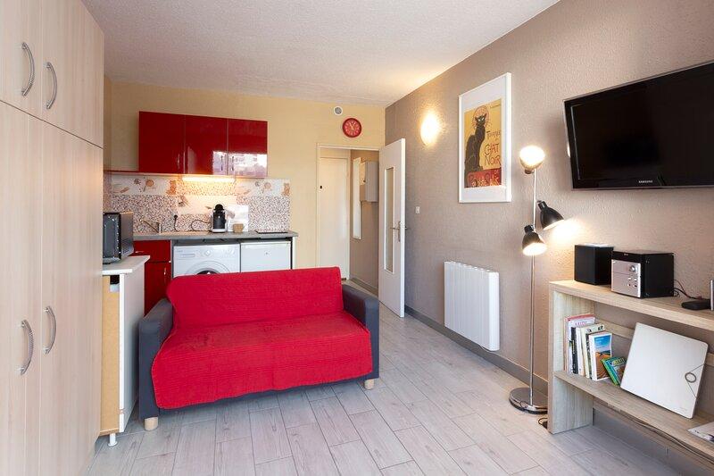 ❤️ Lumineux Studio 5 mn plages et commerces - Centre-ville - Voiles Blanches LGM, location de vacances à La Grande Motte