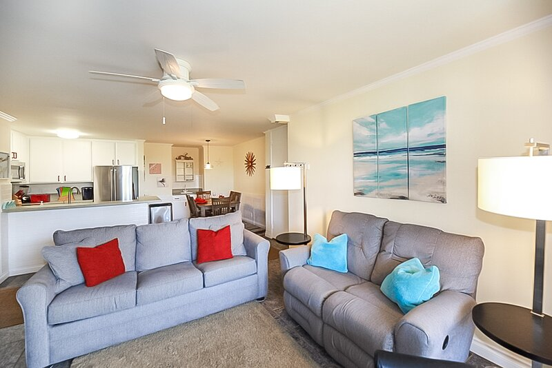 The condo is a corner unit, which means lots of natural light.