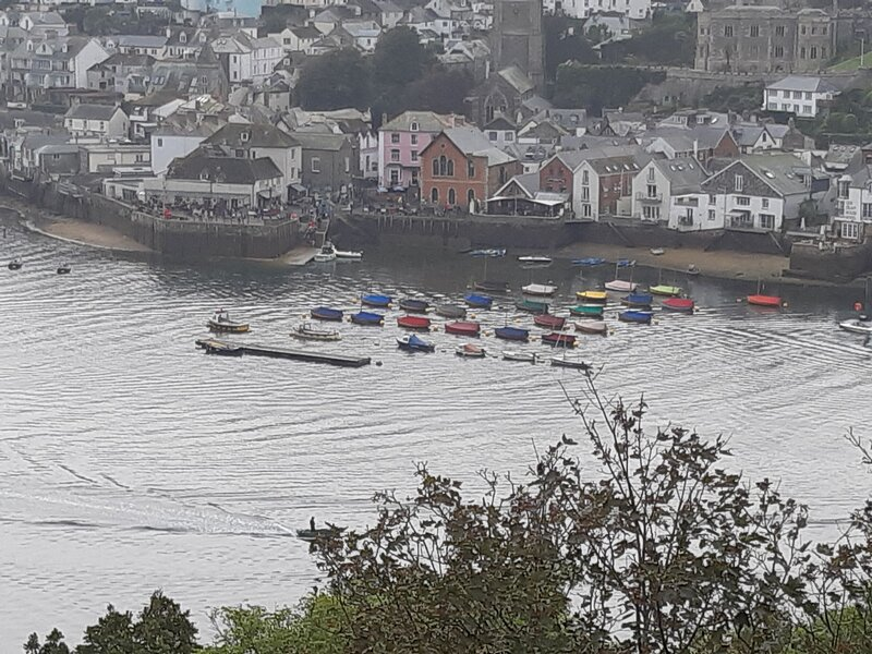 VIEW OF FOWEY FROM THE HALL WALK