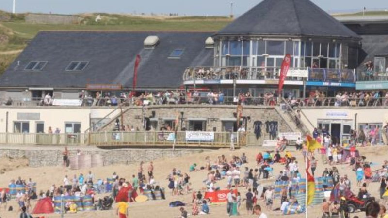 Fistral Beach Newquay-- and the multi million pound surf centre