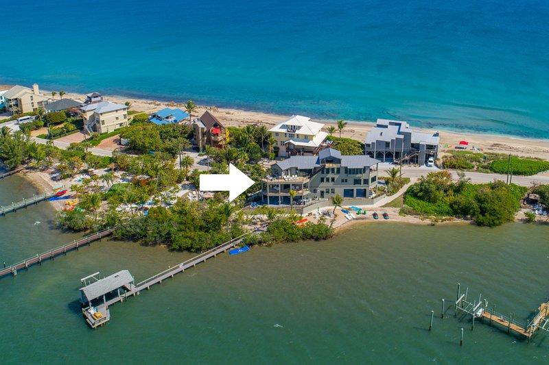 Nirvana Shores: 8BR/6BA Ocean-2-River FL Beach House w/heated pool,dock,elevator, holiday rental in Port Salerno