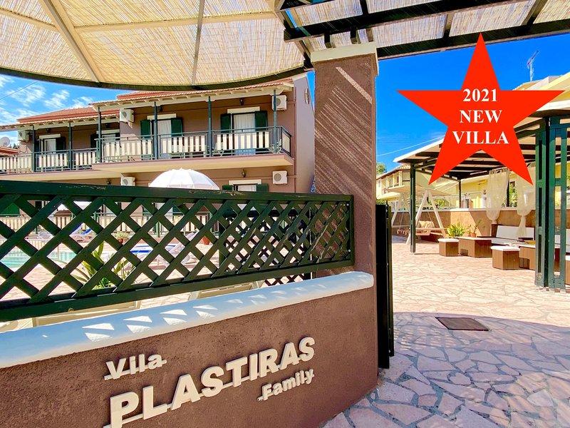 Villa Plastiras Sidari with private pool, holiday rental in Ereikoussa