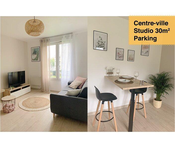 *STUDIO AU CALME 30m2 + 100MÈTRES DE LA GARE + PARKING – semesterbostad i Auvers-sur-Oise