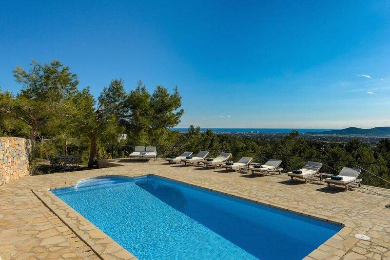 Villa - 4 Bedrooms with Pool, WiFi and Sea views - 108671, holiday rental in Es Codolar