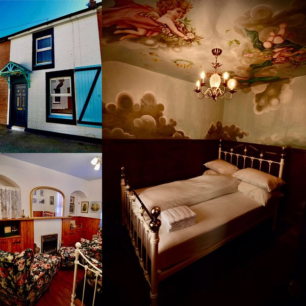 """'Victoria """"Titanic"""". Retreat to our 1910 original Titanic workers cottage, holiday rental in Newtownards"""