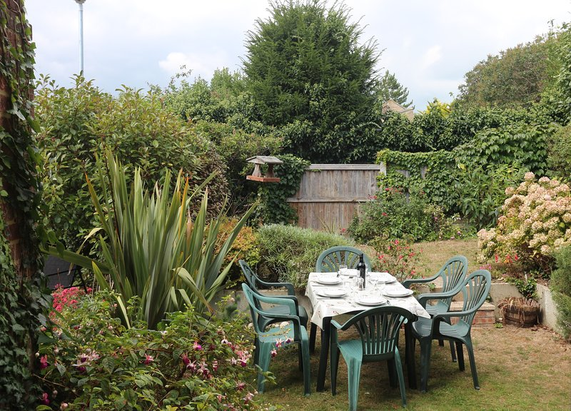 The Back Garden Area is Perfect for Eating Outside. Do Bring a Disposable BBQ