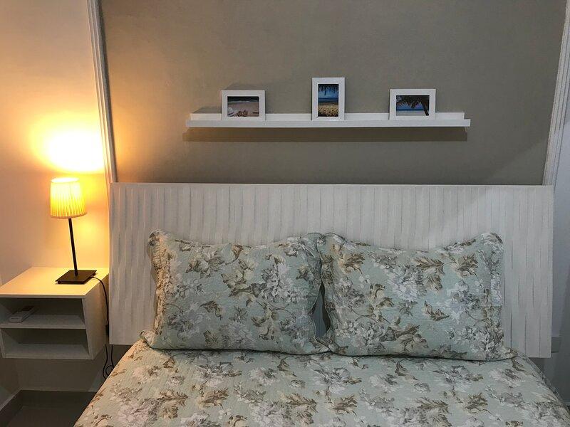 Apartamento com Varanda Canal 1 - Santos, aluguéis de temporada em Santos