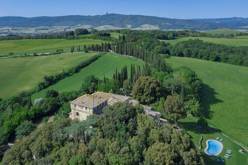 Villa del Greco, Ferienwohnung in Buonconvento