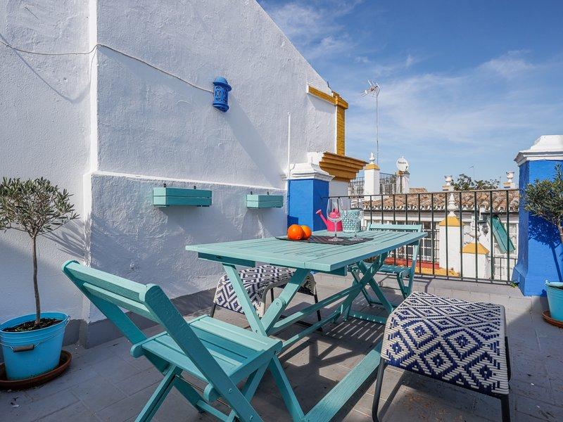 Economic study and cozy shared terrace - CENTRO -, location de vacances à Las Navas de la Concepcion