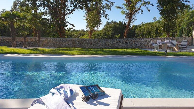 Stone villa with private pool tranquil location in Istria, alquiler de vacaciones en Sveti Lovrec