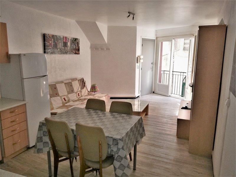 T2-45m2+garage optionnel-Centre historique & 25 min plages, holiday rental in Tourbes