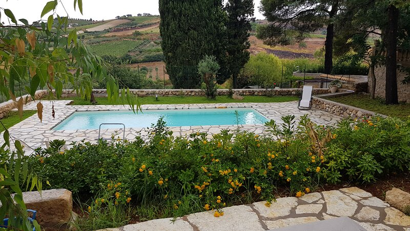 Spacious villa with swimming-pool, holiday rental in Salemi