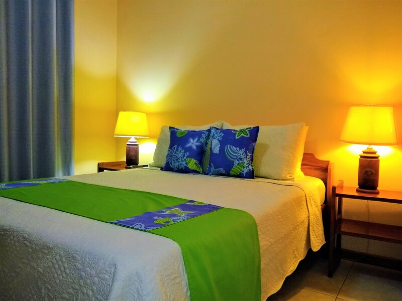 Villa 3 - Room B has a nice double bed and a/c for your comfort.