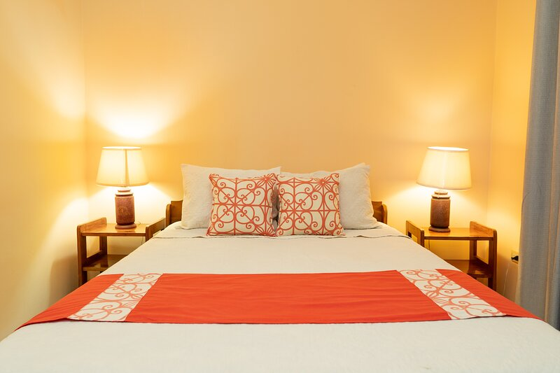Villa 3 - Room A has a nice double bed and a/c for your comfort.