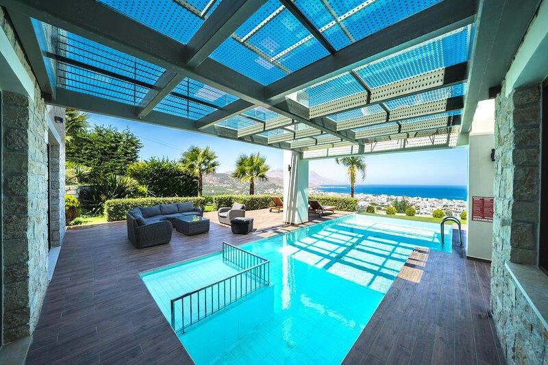 Aimy Seaview villa, Kounoupitsa Kissamos, Chania, vacation rental in Kampos