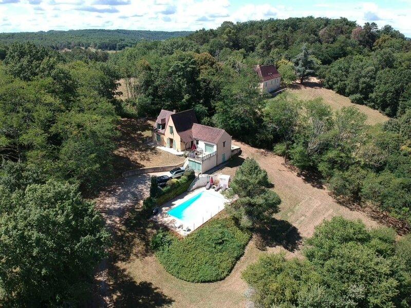 Vallée Vue - Lovely comfortable house with private pool, location de vacances à Castelnaud-la-Chapelle