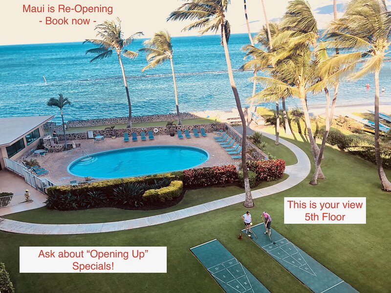 2BR**Sleeps 6**Direct Beach Access**Overlooking the Pool and Ocean, vacation rental in Maui