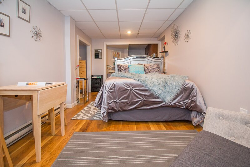 Furnished Studio on MBTA Green Line, Close to Fenway, Longwood, BC + BU, holiday rental in Boston