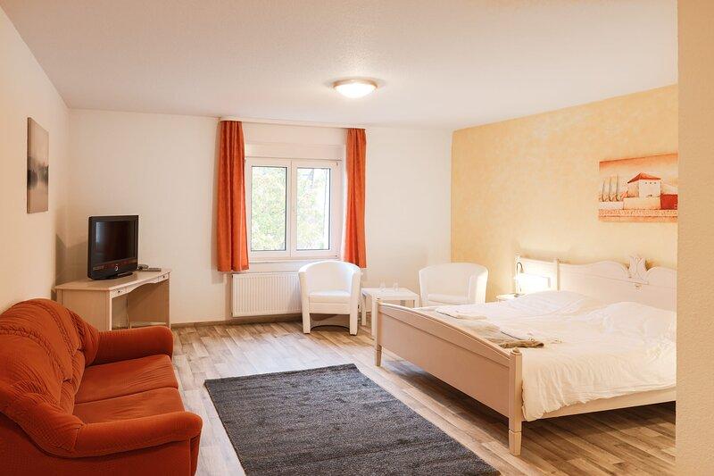 Nettes Doppelzimmer mit Schlafsofa, holiday rental in Harzgerode