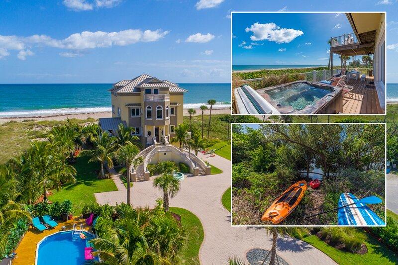 Bella Vista: 7BR/5BA, Ocean-to-River.Directly *ON* Beach. < $100/night  /bedroom, holiday rental in Hutchinson Beach