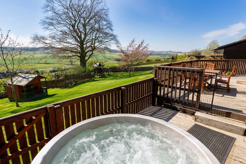 Douglas Fir Lodge with Hot Tub near Cupar, Fife, vacation rental in Auchtermuchty