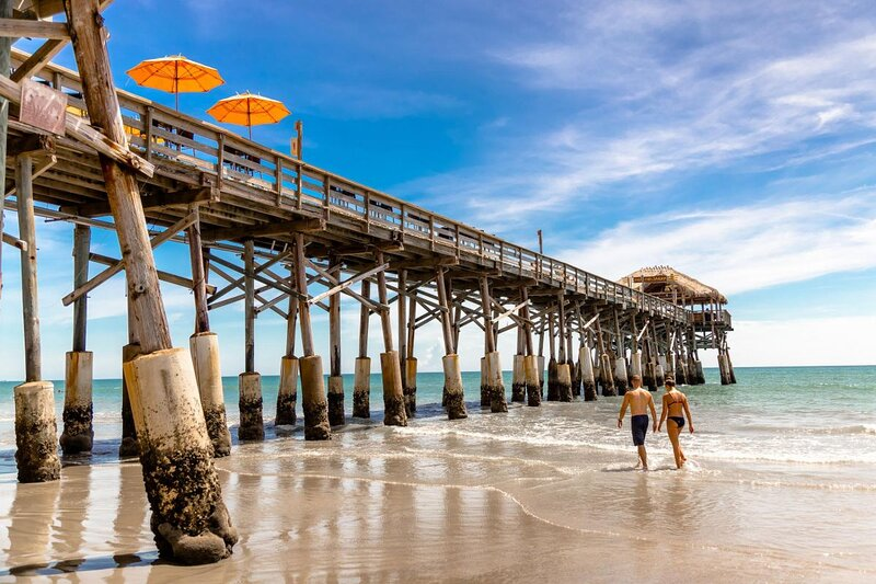 A historic landmark on Florida's Space Coast, the world-famous Westgate Cocoa Beach Pier stretches 800 feet over the Atlantic Ocean and is home to restaurants, bars, gift shops and live musical entertainment