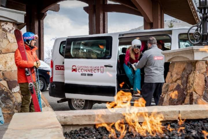 Free On–Call Shuttle! Just Download The App To Schedule, Canyons Village Connect (photo credit CVMA)