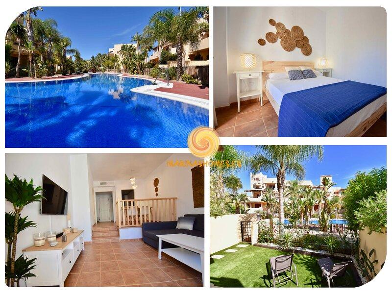 Bahía Marinas - Tu casa con jardín privado y 300mbs Fibra Óptica!, alquiler vacacional en Playas de Vera