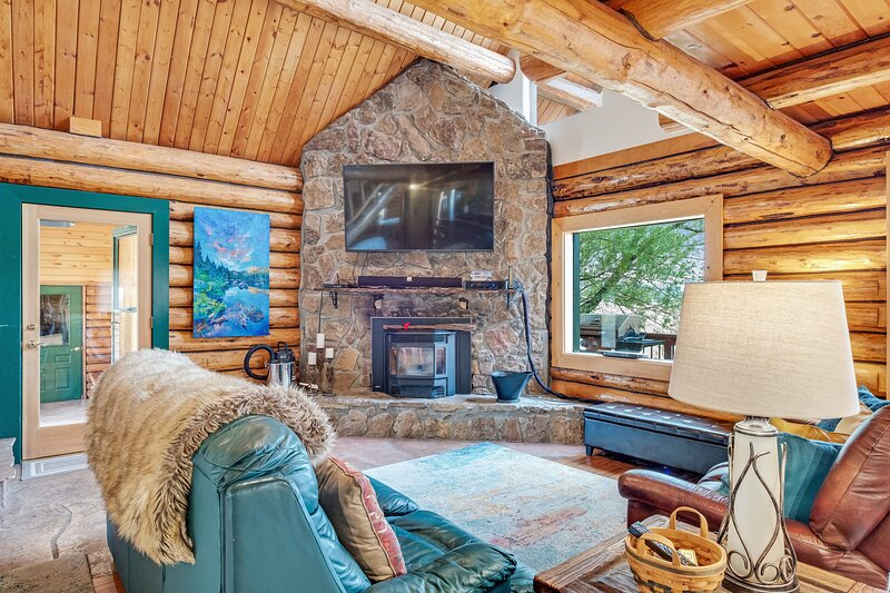 Dog friendly log cabin with mountain views and hot tub!, holiday rental in Pagosa Springs