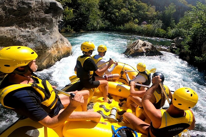 Rafting on Cetina river, only 10km far from villa, this is a great day adventure