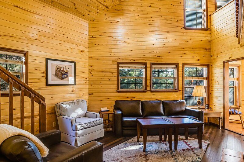 Dog-friendly, luxury cabin w/ a private hot tub, wood stove, & mountain views!, holiday rental in Pagosa Springs