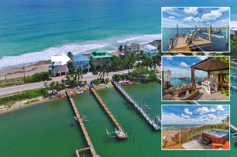 'Heaven Can't Wait!' Oceanfront & Riverfront (Pet-Friendly Beach House in SE FL), alquiler vacacional en Hobe Sound