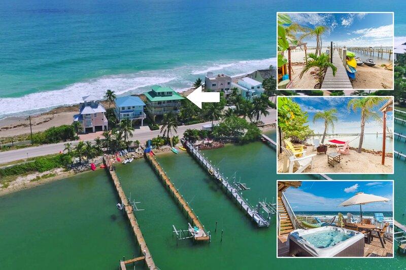 Carpe Diem! Stunning FL Beach House ON Beach +Dock!  << $100 per night / Bedroom, alquiler vacacional en Hobe Sound
