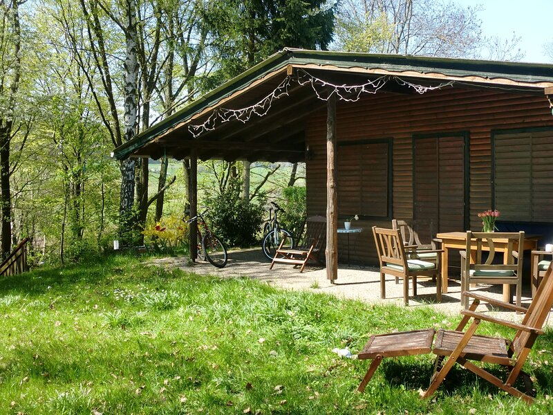 Dog-friendly holiday home in the Knüll with covered terrace, holiday rental in Aua