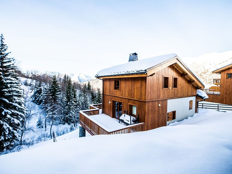 Luxurious chalet near the pistes in family-friendly St. François Longchamp, vacation rental in Saint Francois Longchamp