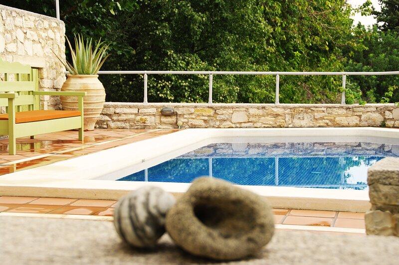 Private swimming pool area