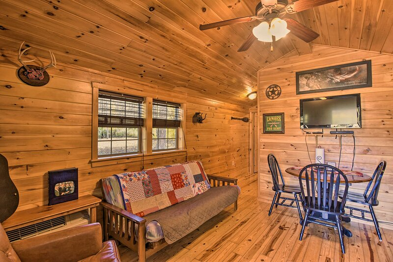 NEW! Rural Cabin Hideaway w/ Fire Pit & Mtn Views!, vacation rental in Elkins