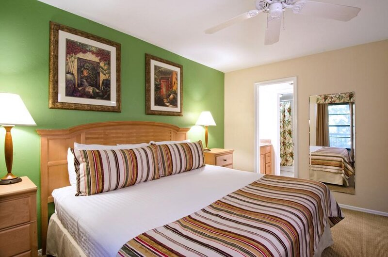 Bedroom with a King size bed and flat screen TV