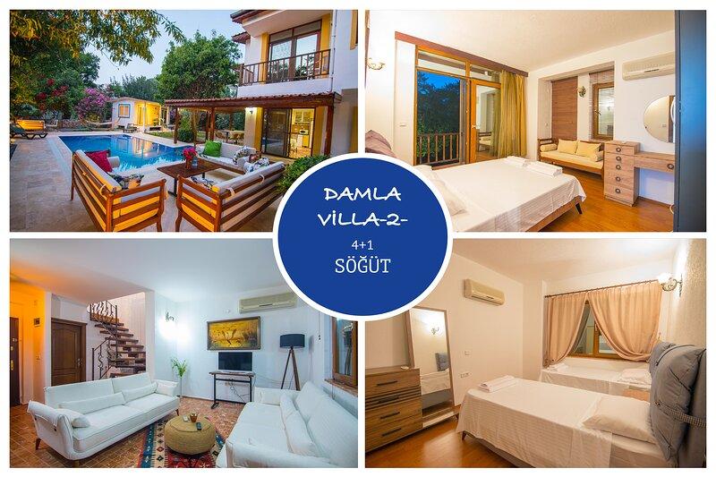 Villa Damla 2 Söğüt Village Marmaris Daily Weekly Rentals, holiday rental in Sogut