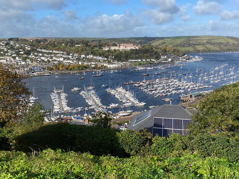 Naval College and Dartmouth from Kingswear