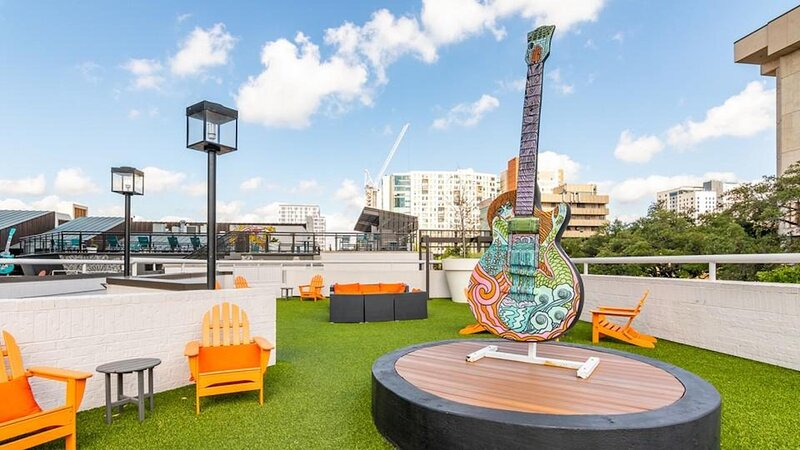 Chill and enjoy the sites on the community rooftop
