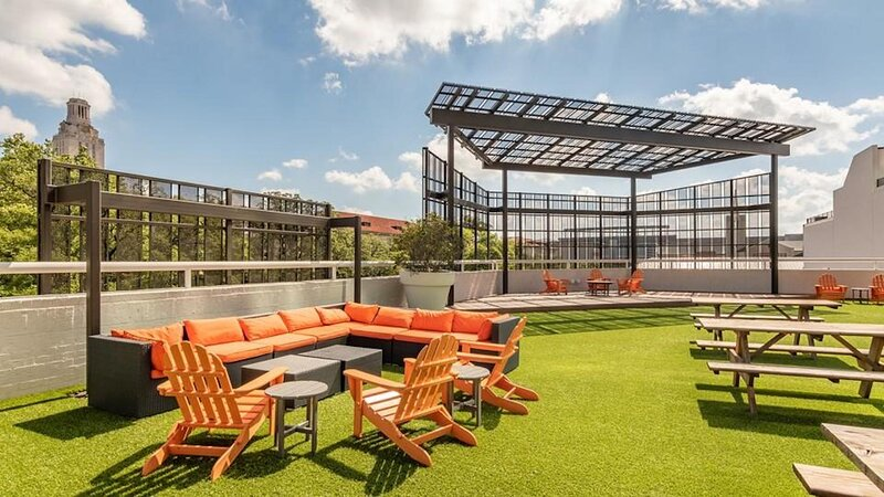 Lounge on the community rooftop!