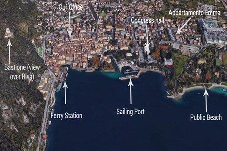 The area of Riva del Garda