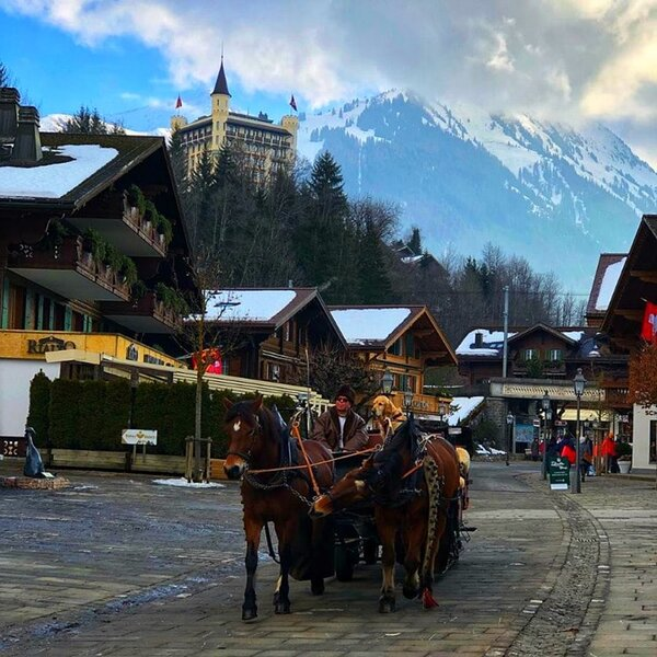 A CLASSIC VINTAGE GSTAAD WINTER RETREAT, casa vacanza a Gstaad