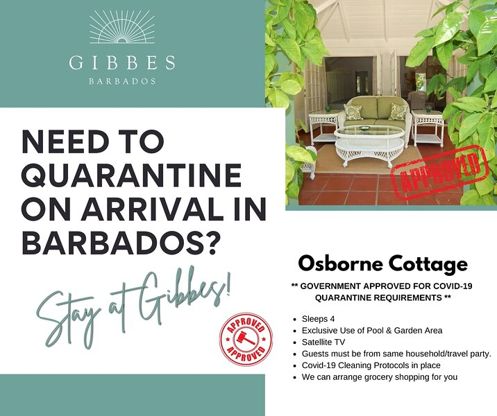 Gibbes - Osborne Cottage  *Government Approved for Covid-19 Quarantine Purposes* – semesterbostad i Gibbes