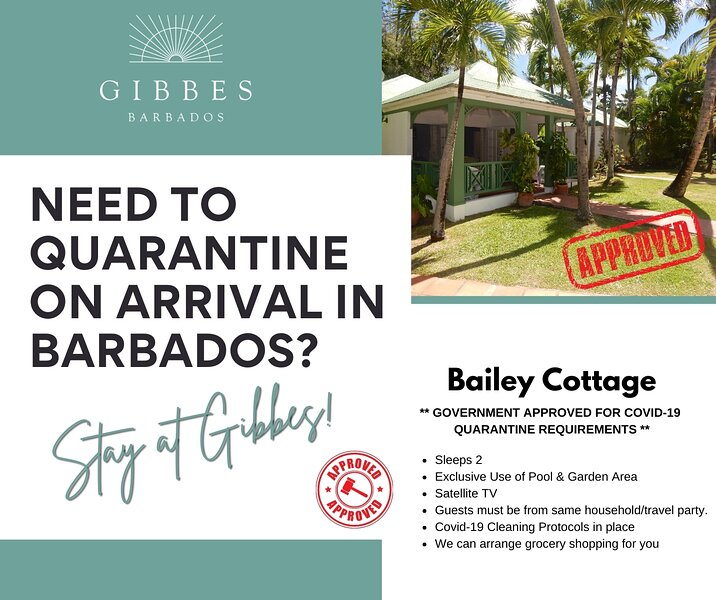 Gibbes - Bailey Cottage  *Government Approved for Covid-19 Quarantine Stays* – semesterbostad i Barbados