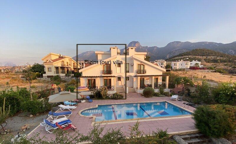 Family villa w/Pool&5 mins beaches&15 mins Kyrenia center, vacation rental in Kyrenia